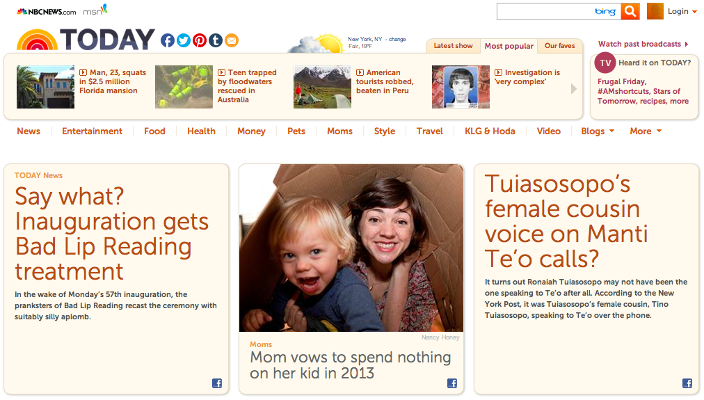 Today.com: Minimalist mom vows to spend nothing on her kid in 2013